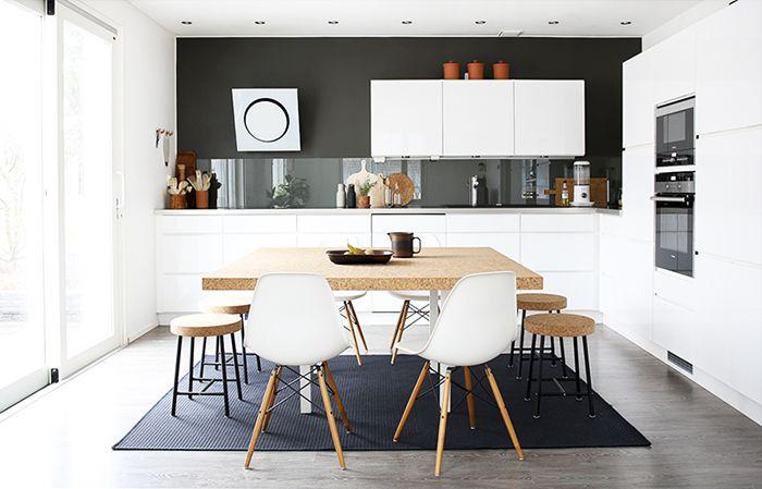 Bambula: DIY | Ruokapöytä korkkikannella