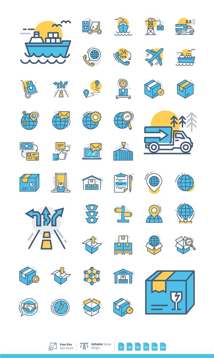 Logistics Management Symbols by korawan.m on