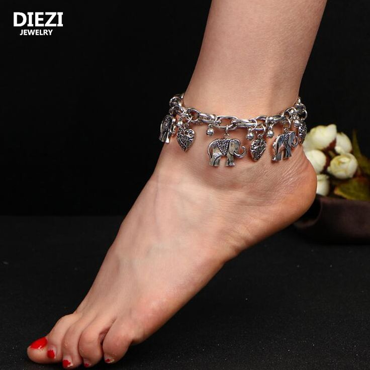 US $1.39     Buy Jewelry At Wholesale Prices!     FREE Shipping Worldwide     Buy one here---> http://jewelry-steals.com/products/diezi-one-piece-bohemia-vintage-elephant-chram-tassel-beads-ankle-barefoot-sandals-beach-foot-jewelry-sexy-leg-chain-boho-anklet/    #earrings