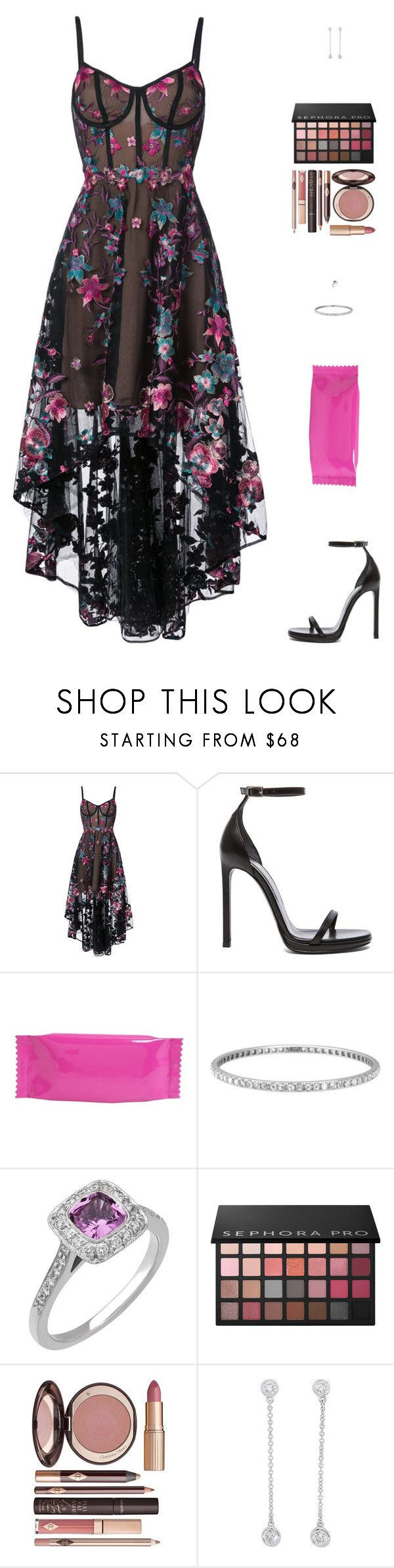 """Sin título #4872"" by mdmsb on Polyvore featuring moda, Notte by Marchesa, Yves Saint Laurent, MM6 Maison Margiela, Tiffany & Co., Sephora Collection y Charlotte Tilbury"