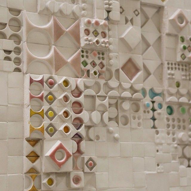 "soudasouda: ""lindabergroth: Detail of the #ceramic masterpiece by Rut Bryk #helsinkicityhall #rutbryk Posted by SoudaSouda Follow Souda on instagram, pinterest, facebook, or tumblr. """