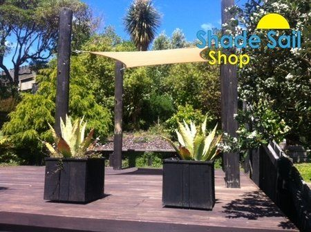 2 m x 2 m  Square Shade Sail in Sand.