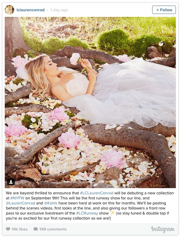 Lauren Conrad bridal gown