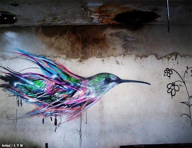 Bird Street Art on the Streets of Brazil by L7m street art graffiti birds