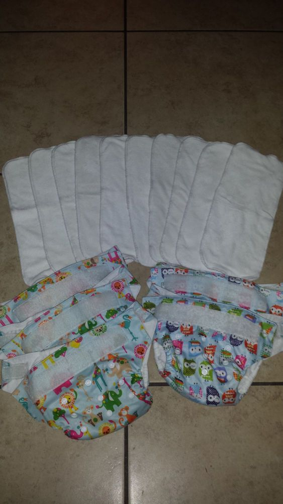 Kawaii Pocket One Size Diaper Heavy Duty Bamboo Diapers Cloth Baby Velcro Insert #Kawaii