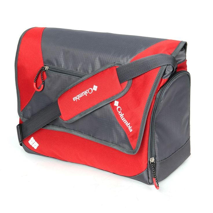 Columbia East Ridge Messenger Diaper Bag, Red