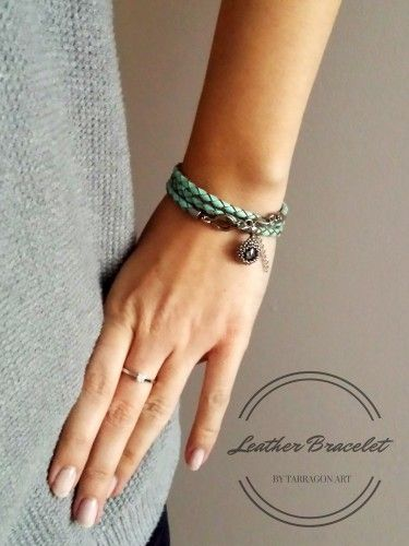 Turquoise bracelet is beautifull decoration for every woman's hand.
