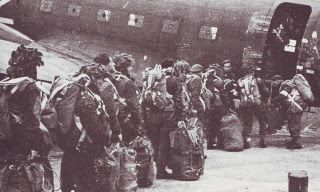 Polish soldiers of the 1st Polish Independent Parachute Brigade boarding plane- Operation Market Garden -Battle of Arnhem