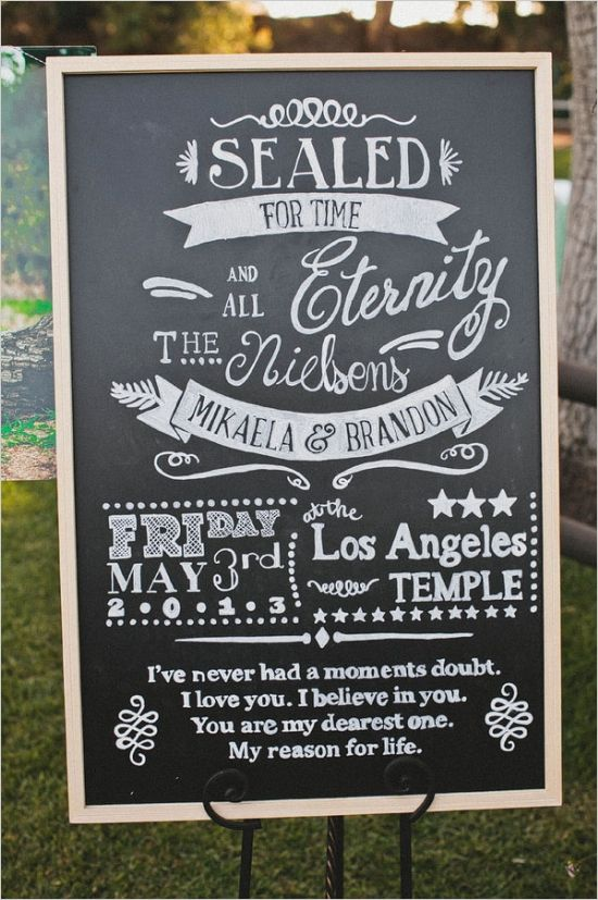 Probably the sweetest message you could write to your love one. Absolutely love this wedding devotion board.