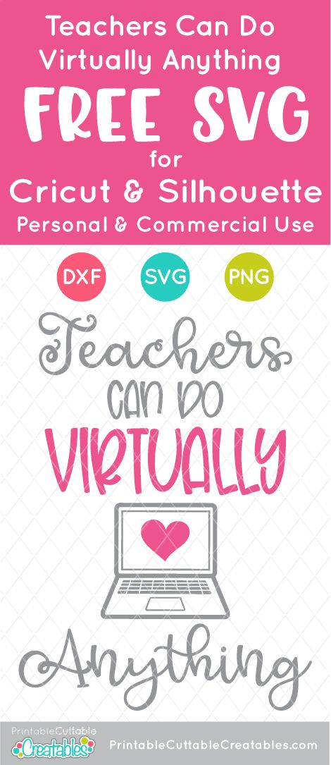 Download Teachers Can Do Virtually Anything Free SVG File for ...