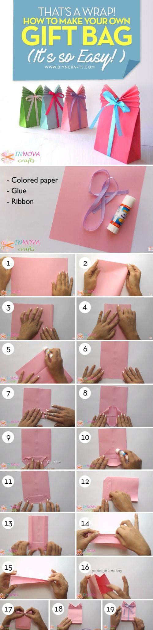 The 25+ best Homemade gift bags ideas on Pinterest   DIY gift bag ...