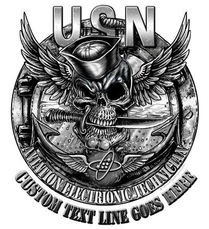 Navy Rate Jolly Roger Skull Military Shirts $19.95