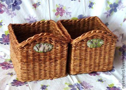 Коробочки плетеные - коричневый,уютная кухня,теплый цвет,короб для хранения
