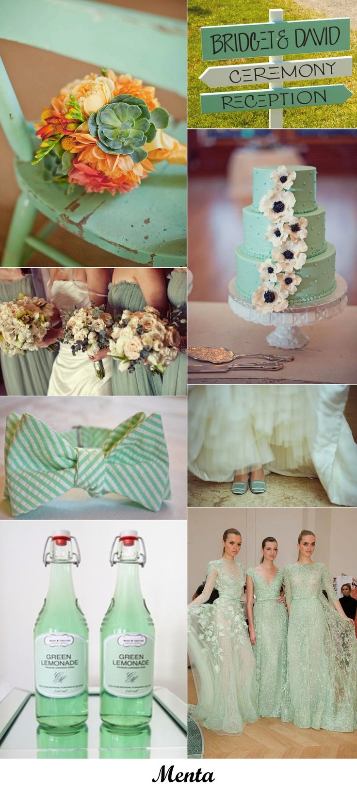 I really like the green. Perfect for a spring or summer wedding.