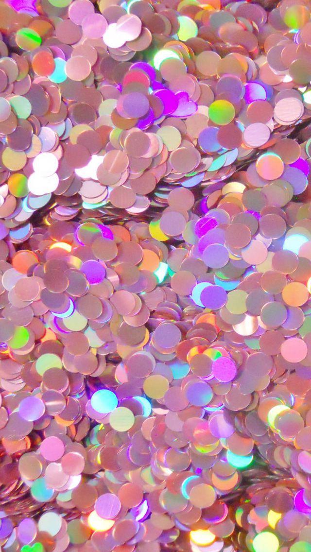 Pink Confetti iPhone Wallpaper