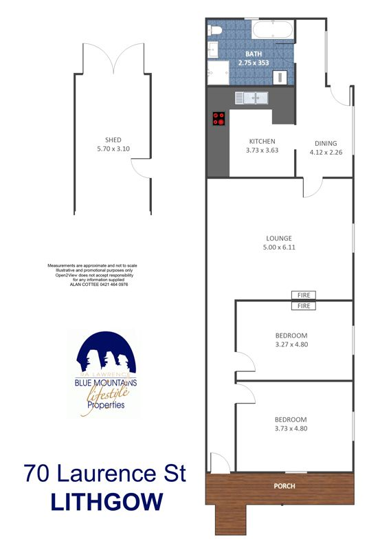 70 Laurence St, Lithgow, NSW 2790 - floorplan