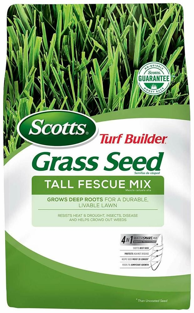 Scotts Turf Builder Grass Seed Tall Fescue Mix 3 Lb Full Sun And Partial Sha Scotts Turf Builder Grass Seed Grass Seed For Shade