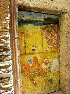 rustic door in Liguria, Italy