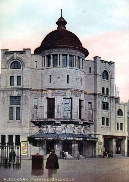 The Greenock Alexandra Theatre Circa 1908 - Courtesy Graeme Smith