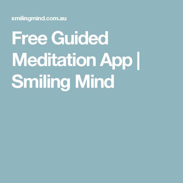 Free Guided Meditation App   Smiling Mind