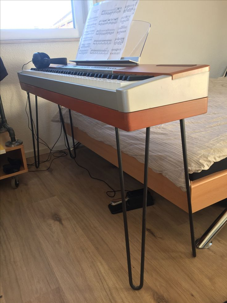 Piano Stand With Hairpin Legs