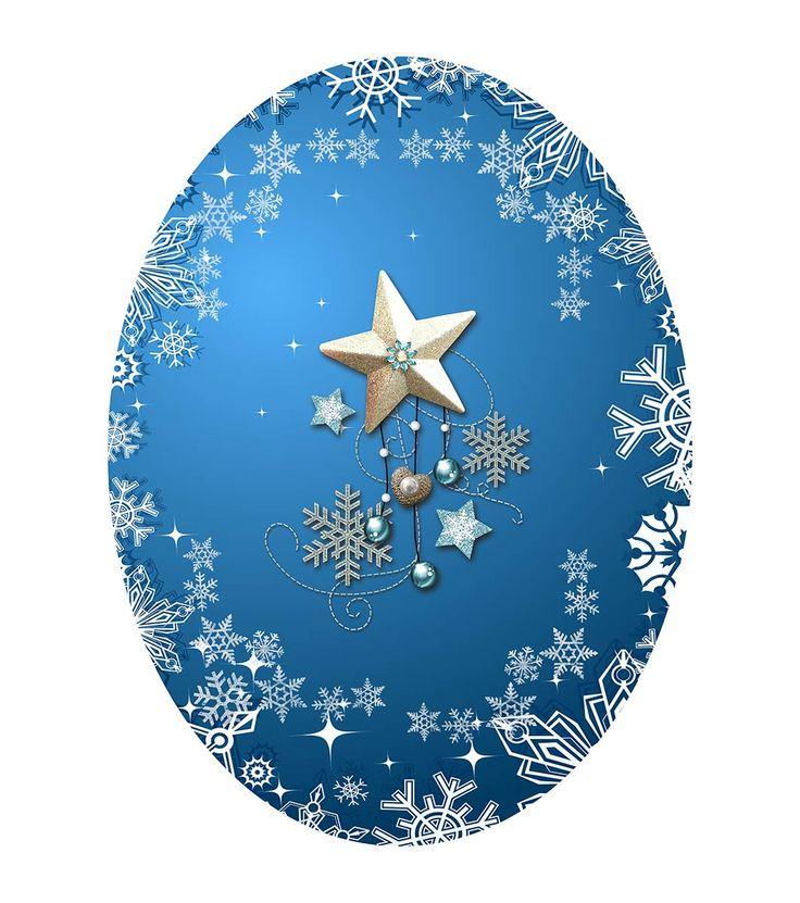 FashionSupreme - Față de masă în albastru cu imprimeu de Crăciun - Pentru casă - Feţe de masă - Sofi - în întâmpinarea Crăciunului. Haine şi accesorii de marcă. Haine de designer.