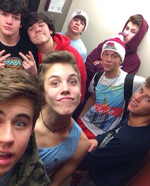 Aaron Carpender, Jake Foushee, Hayes Grier, Nash Grier, Cameron Dallas, Matthew Espinosa, Shawn Mendes, Taylor Caniff♡Magcon♡
