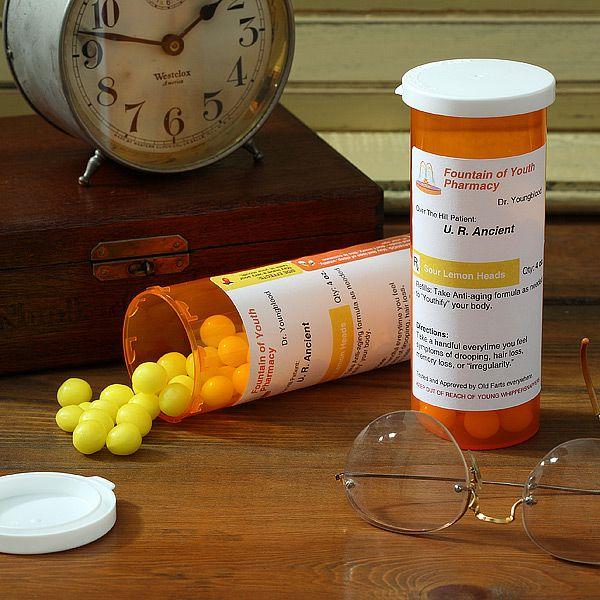 Personalized Prescription for Aging Funny Milestone Birthday Gag Gift