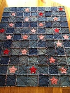 denim rag quilts - Google Search - Casual Crafter