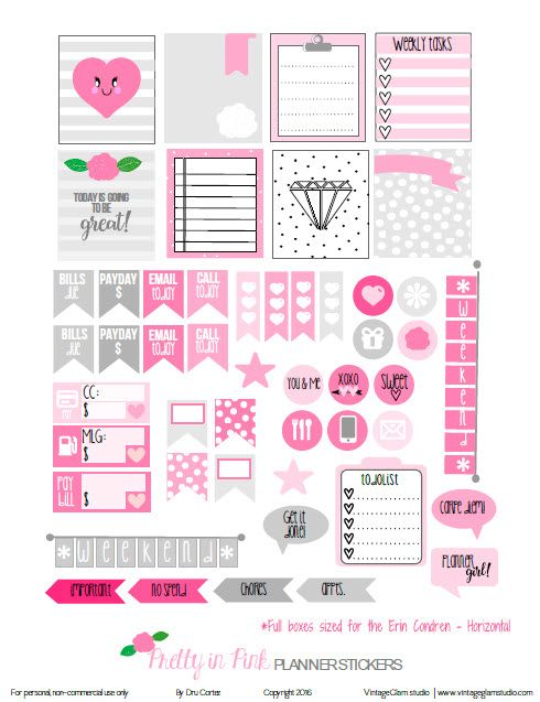 Hello blog followers and visitors! Well, I think I am getting in the right design mode for the horizontal planner and layout.  Today's release is the fourth time  that I have designed stickers made specifically for  horizontal planners.  Since it's close to Valentine's Day, I am sticking to hearts and pink for this freebie.   … Continue reading Pretty in Pink Planner Stickers – Free Printable →