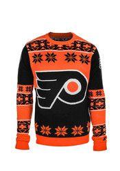 Philadelphia Mens Orange Big Logo Ugly Sweater