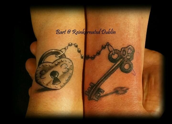 Ultimate Couple Lock and key Tattoo Trend