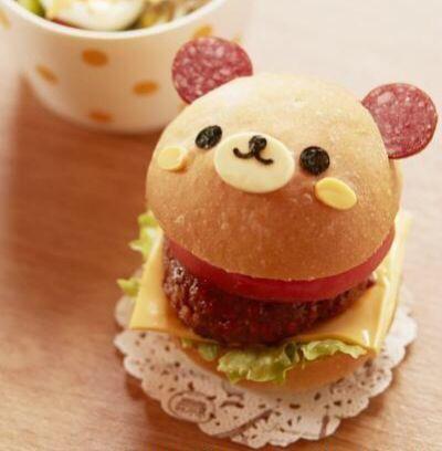 kawaii burger | via Tumblr