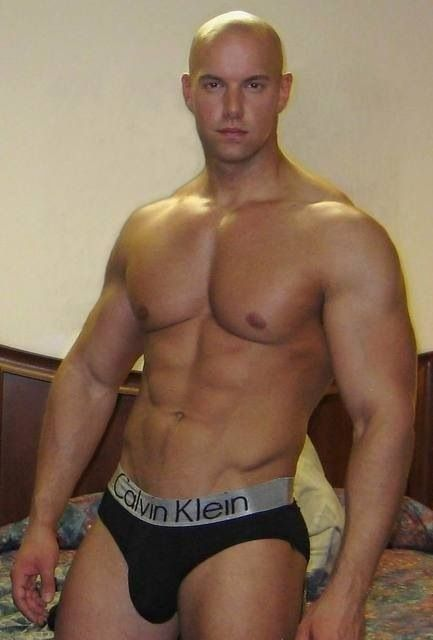 gay trimmed muscular