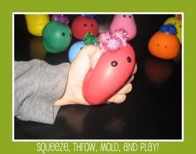 Playdough inside Balloons!