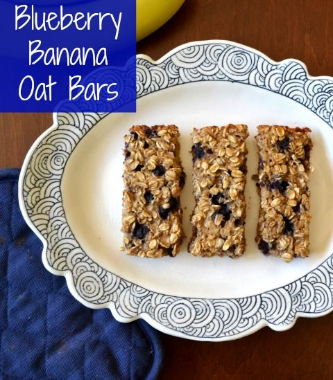 Blueberry Banana Oat Bars | Real Food Real Deals #healthy #recipe #snack