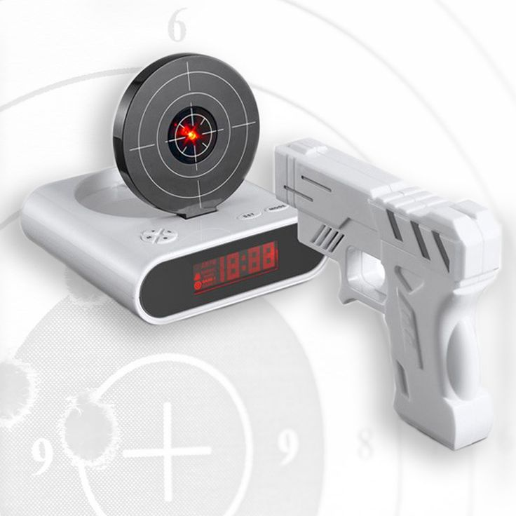 Reloj Despertador Pistola Laser   o2lifestyle