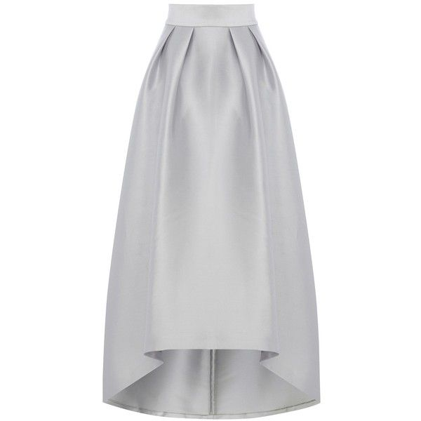 Coast Hi Low Meslita Skirt, Pale Blue (15.210 RUB) via Polyvore featuring skirts, flare skirt, short front long back skirt, midi skirt, flared midi skirt и mid-calf skirt