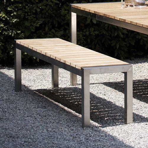 Jan Kurtz Luxury Bank Sitzbank Garten Gartentisch Holz Metall
