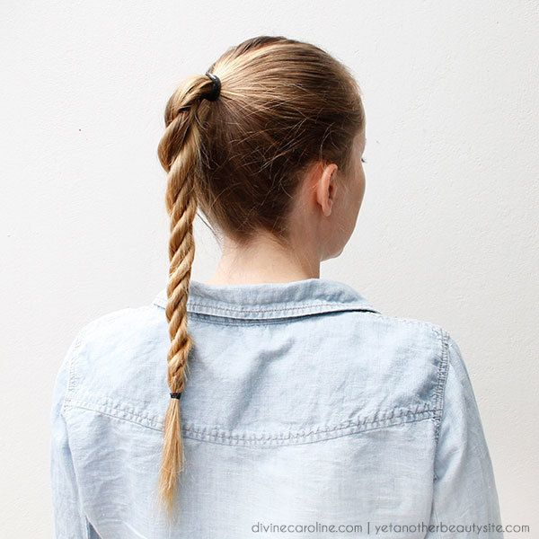 Licorice Braid--wondering if this would make my hair look super short...