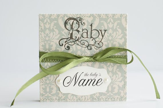 Personalized Baby Memory Book, Baby Shower Book, Babys First Year Scrapbook