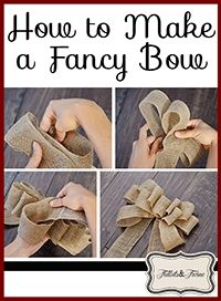 How to Make a Fancy Bow...Maybe for the ends of the pews? I dont know, but I want to learn how to do this anyhow :D