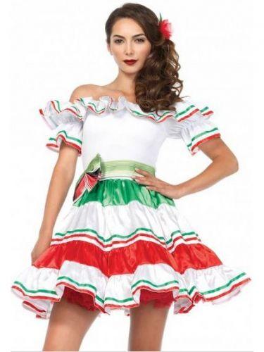 Disfraz de señorita mexicana sexy mujer