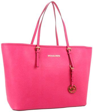 Michael Kors Jet Set Travel Tote in Zinnia (Pink), $408 via Amazon.
