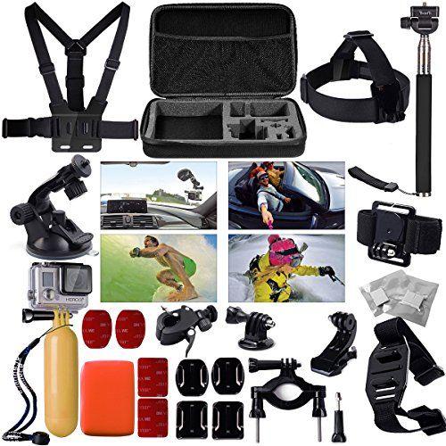 XCSOURCE® OS95 Kit de Accesorios de Soporte para GoPro Hero 2 3 3+ 4 SJ 4000 SJ5000 Bolso Funda Protectora de Almacenamiento + Palo Extensible + Ventosa + Correas de Pecho, Cuello, Hombros y Cabeza y Otras Herramientas con Multiples Funciones - http://www.midronepro.com/producto/xcsource-os95-kit-de-accesorios-de-soporte-para-gopro-hero-2-3-3-4-sj-4000-sj5000-bolso-funda-protectora-de-almacenamiento-palo-extensible-ventosa-correas-de-pecho-cuello-hombros-y-cabe/