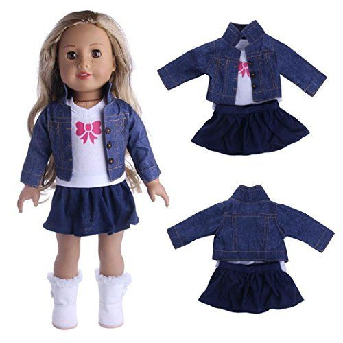 Baby Toy, Hatop Jeans Coats Three piece Suit For 18 inch Our Generation American Girl Doll (A). #Baby #Toy, #Hatop #Jeans #Coats #Three #piece #Suit #inch #Generation #American #Girl #Doll