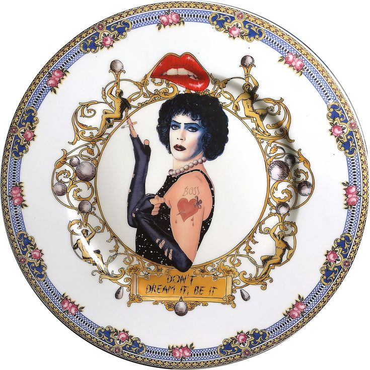 The Rocky Horror -  Limoges WG & co France - Vintage Porcelain Plate - Serie - #0576 by ArtefactoStore on Etsy