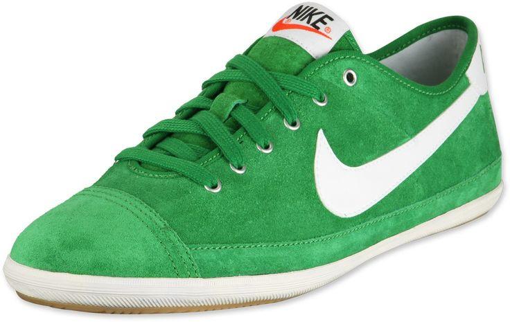 Heren Dames Nike Flash Suede Groen Wit Sneakers,HOT SALE!