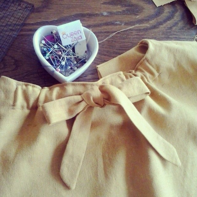 Work in progress. New dress for little girl. #queenzoja #dress #linen #cotton #sew #honey #tkanina #tekstil #sukienka #len #bawełna #progress #projekt #szyjemy #happy #fashion #kidsfashion #slowfashion