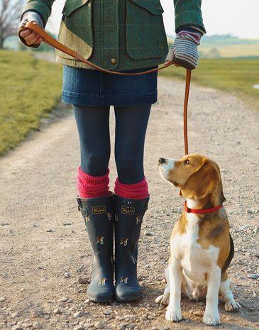 Pink socks....beagle rainboots....and beagle